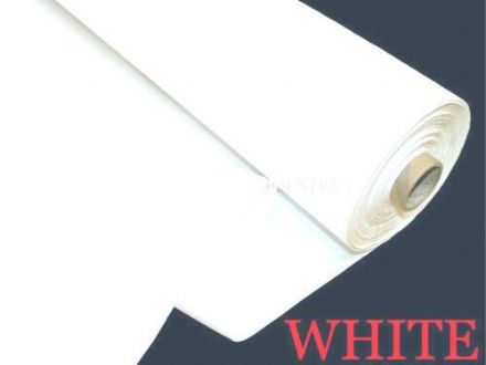 100% Cotton Sateen WHITE  Premium Curtain Lining  Fabric